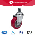 Mini 2 Inch 30kg Threaded Swivel TPU Caster