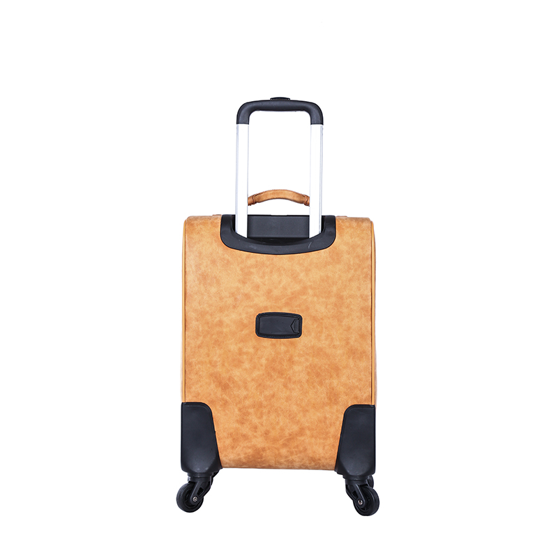 New design strong handle PU luggage set3
