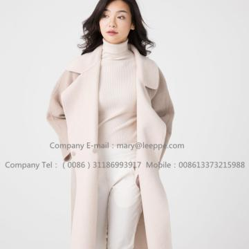 China Manufacturers for Woman'S Warm Cashmere Overcoat Reversible Cashmere Coat Of  Pager Suri Alpaca supply to Portugal Manufacturer