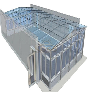 ODM for Glass House Sunroom Roof House Wood Glass Garden Greenhouse supply to Greece Manufacturers