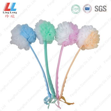 Long Handle loofah scrub mesh bath Brush