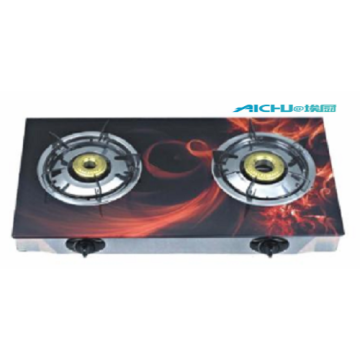 2 Burners Cooktop With Coloured Glass