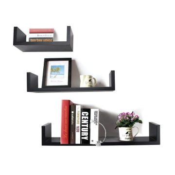 U-Shaped Floating Wall Shelf, Set of 3