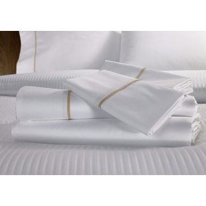 Cotton plain bed sheets with piping