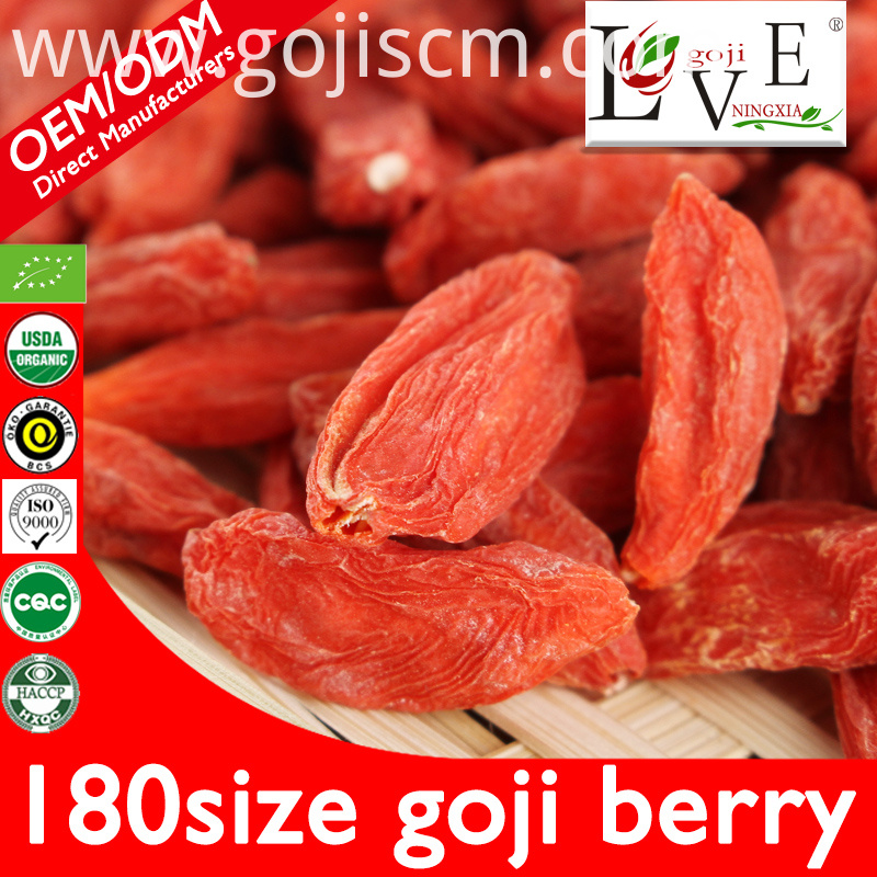 180size Pure Plump Goji Berries