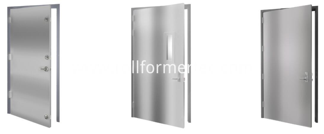 Hollow metal door rollformer