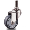 1.5 inch Stainless steel bracket   light duty flat TPR casters without   brakes