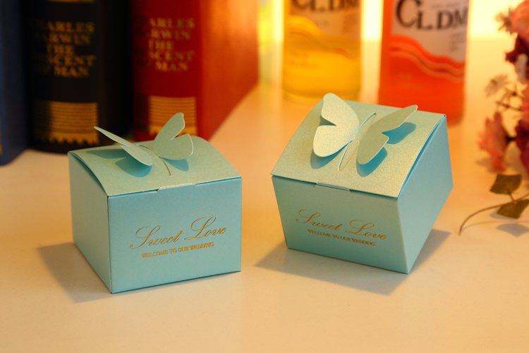 Candy box wedding favors