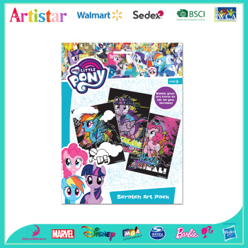 Pony scratch art pad
