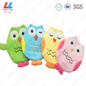 Owl style cute bath gloves product