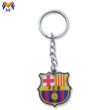 Metal custom design printing keychain with charms