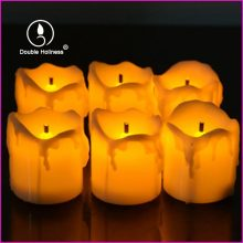 tear design led votive candle for decoration