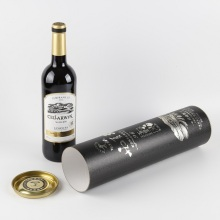 Eco-friendly Custom Cardboard Cylinder Wine Tube Box