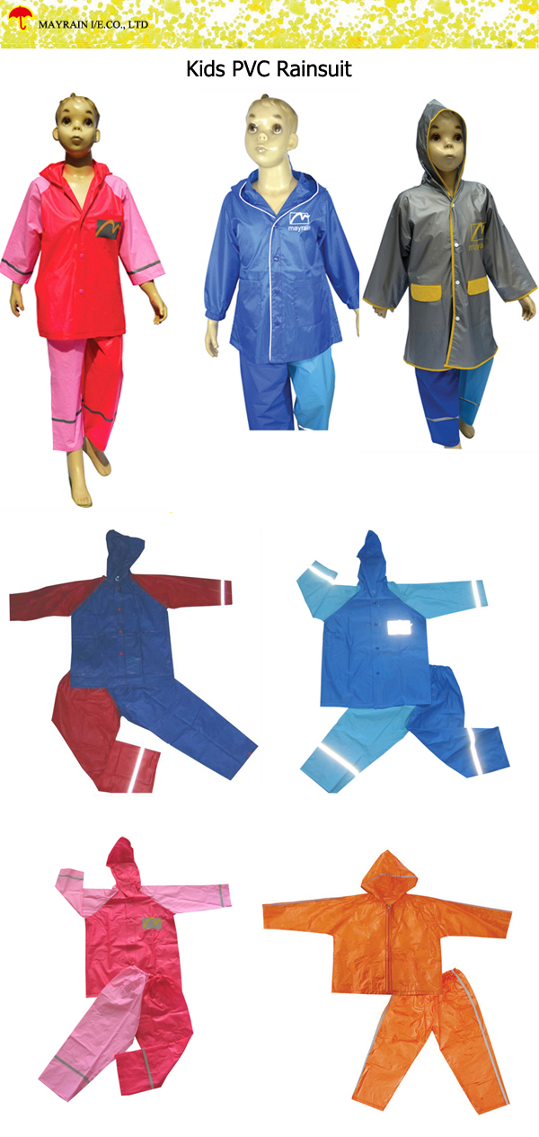 Kids PVC Rainsuit