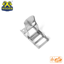 High Quality for Metal Ratchet Buckle 2 Inch White Zinc Steel Overcenter Buckle For Lashing Belt export to Guyana Importers