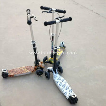 Mini 3 Wheel Music Kick Scooter with Hand Brake
