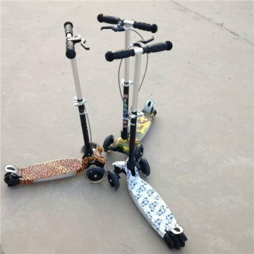 Mini 3 Wheel Music Scooter with Hand Brake