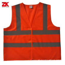 100% polyester High visible reflective warning vest