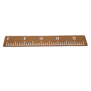 Light Brown & White Boat EVA Foam Fish Ruler
