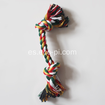 Candy Color Cotton Rope Dumbbell Juguetes para mascotas