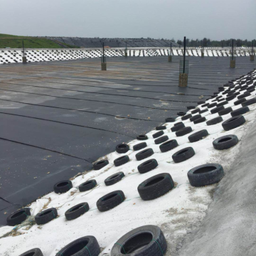 Textured Black Color High Density Polyester Geomembrane