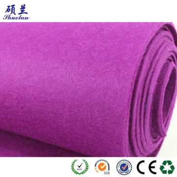 Good quality customized color polyester felt fabric
