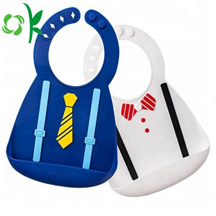Suit Shape Silicone Bibs