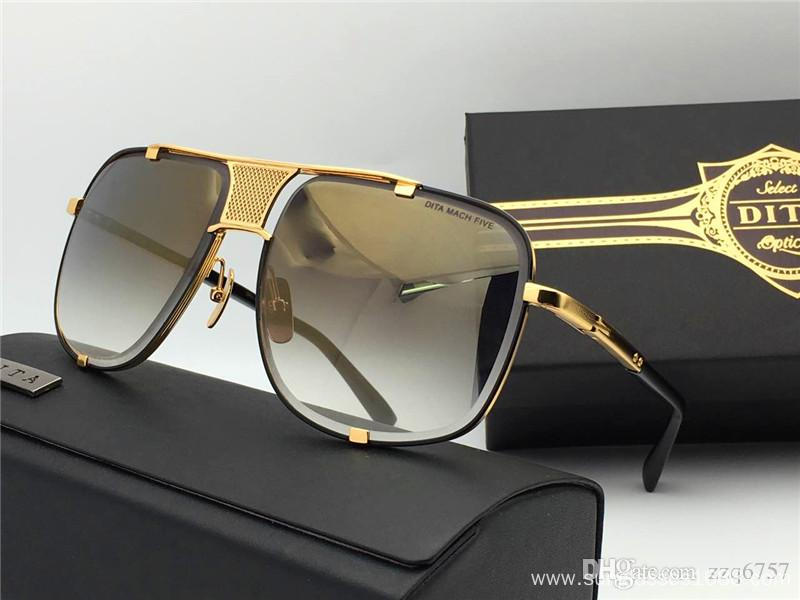 Five Men's Top Quality 18K Gold-Plated Sunglasses