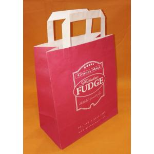 Christmas Custom Flat Handle Art Paper Bag
