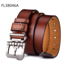 Casual fashion men's belt alloy pin buckle belt