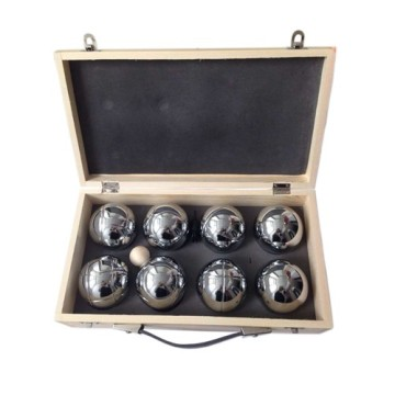 Chrome Bocce Ball Set