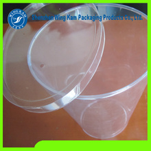 Plastic round cylinder clear boxes with food grade character for cookies