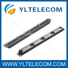 1U 19inch 24port(4*6) Patch Panel Cat.5e and Cat.6 type