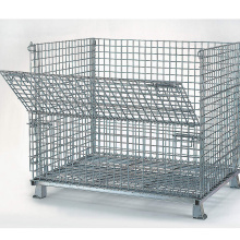 Foldable & Stackable Galvanized Pallet Cage