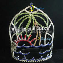 Fast Delivery for Pink Butterfly Pageant Crowns Large tiaras and Palm Tree for sale CR-12062 export to Lithuania Factory