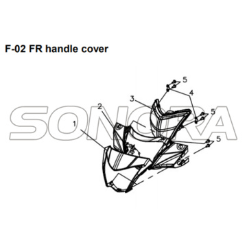 F-02 FR handle cover for XS175T SYMPHONY ST 200i Spare Part Top Quality