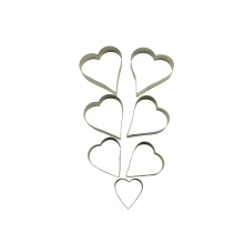 Different cheap heart flame shaped cookie cutter wholesale