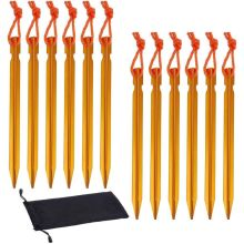12Pcs Y design Gold Aluminum Tent Stakes Pegs