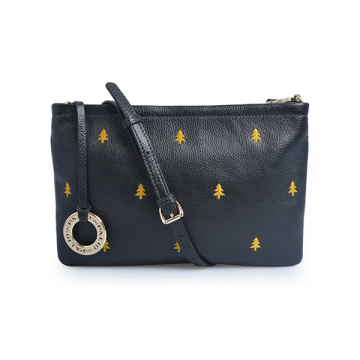 Black Crossbody Purse Vegan Leather Roomy Evening Clutch