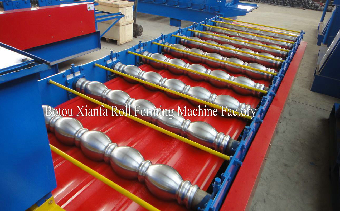 double deck glazed and ibr roll forming machine