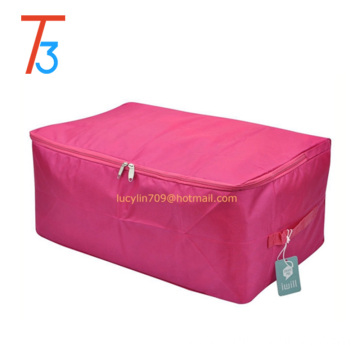 Canvas polyester oxford washable quilt clothes storage bag