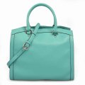 Leather Women Handbag Green Large Lady Business Bags