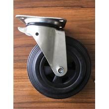 6 inch rubber caster wheels for waste bins