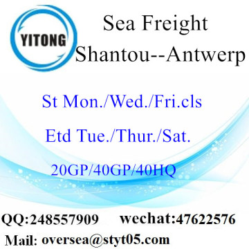 Shantou Port Sea Freight Shipping To Antwerp