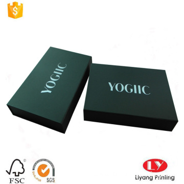 Black magnetic book shaped gift cardboard box