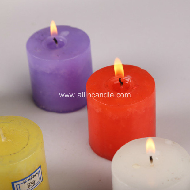 135g colorful pillar candle