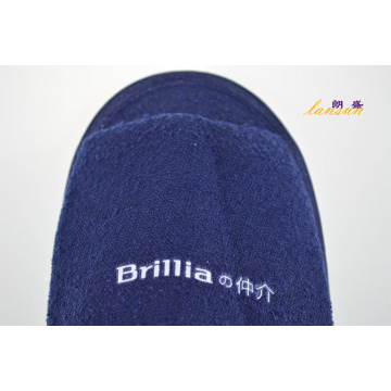 Dark Blue Terry Slipper Airline Slipper Terry Towel