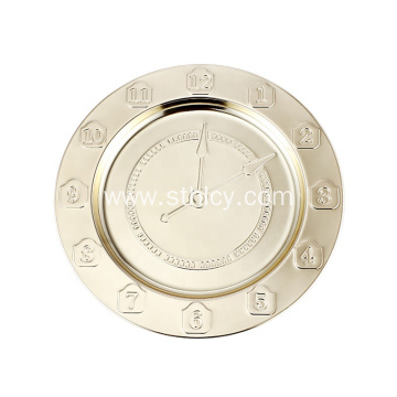 Stainless Steel Round Clock Plate with Customized Logo