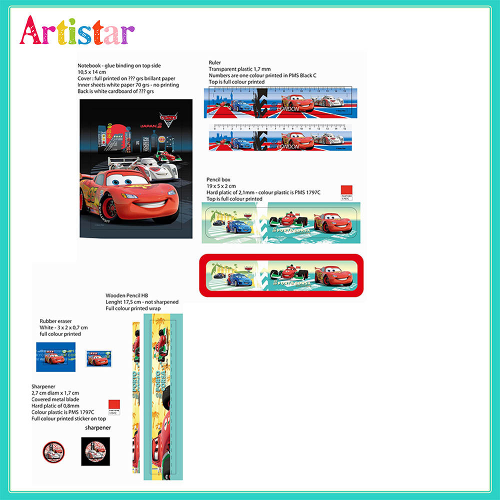 Disney Cars 6 Piece Blister Card Set
