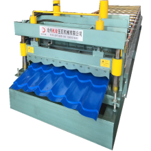 Glazed shape metal roof tile roll forming machinery